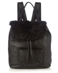 Elizabeth and James Langley Shearling And Leather Backpack
