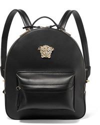 Versace Palazzo Medium Leather Backpack Black