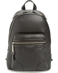 Marc Jacobs Scallops Leather Backpack Black
