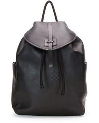 Alexander McQueen Stud Skull Leather Backpack Black