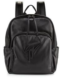 Giuseppe Zanotti Tonal Logo Leather Backpack