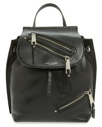 Marc Jacobs Zip Leather Backpack Black