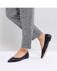 Asos Design Ladybird Leather Ballet Flats