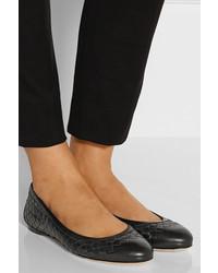 Nuovi Prodotti amazon a basso costo Bottega Veneta Intrecciato Leather Ballet Flats, £527 | NET ...