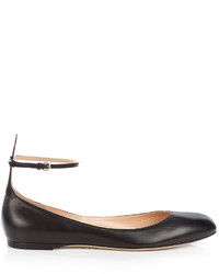 Valentino Tan Go Leather Flats