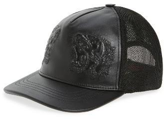 cc04d25d41d ... Gucci Tiger Leather Baseball Cap Black ...