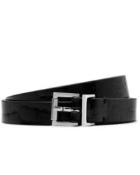 Maison Margiela 15cm Black Croc Effect Leather Belt