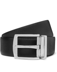 Burberry 35cm Black Textured Leather Belt