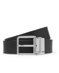 Paul Smith 3cm Black And Dark Green Reversible Leather Belt