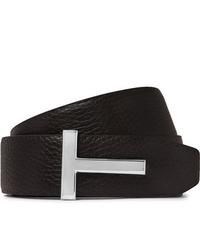 Tom Ford 4cm Black And Brown Reversible Full Grain Leather Belt