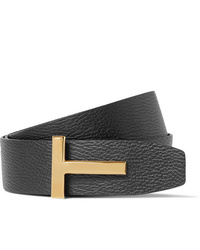 Tom Ford 4cm Black And Dark Brown Reversible Full Grain Leather Belt
