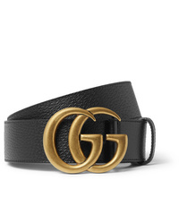 Gucci 4cm Black Full Grain Leather Belt