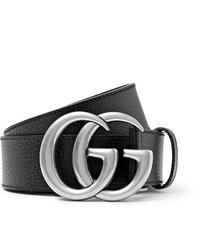 Gucci 4cm Black Full Grain Leather Belt