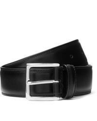 ANDERSON'S 4cm Black Leather Belt