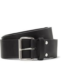 A.P.C. 4cm Black Leather Belt