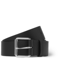 Balenciaga 4cm Black Logo Print Full Grain Leather Belt