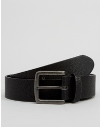 ASOS DESIGN Faux Leather Wide Belt In Black