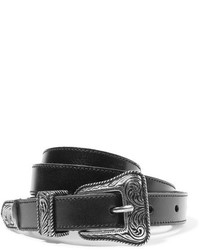 Leather belt black medium 819544