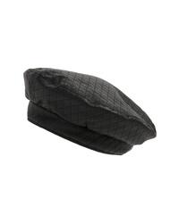 Black Leather Beret