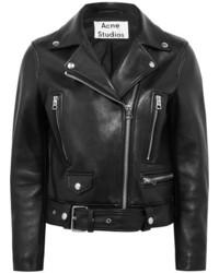 Acne Studios Leather Biker Jacket Black