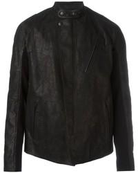 Alexander McQueen Band Collar Biker Jacket