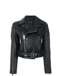 Manokhi Cropped Biker Jacket