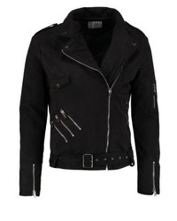 Sixth June Faux Leather Jacket Black