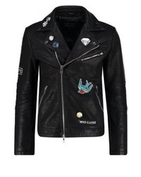 Faux leather jacket black medium 3835249