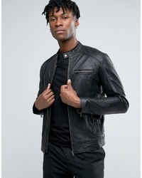Selected Homme Leather Biker Jacket