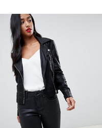 Y.A.S Petite Leather Biker Jacket