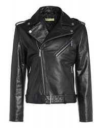 Versace Leather Jacket Black