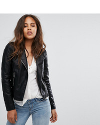 Vero Moda Tall Leather Look Biker Jacket