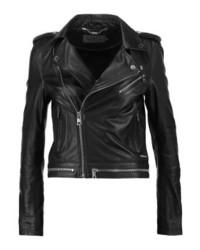 Calvin Klein Moza Leather Jacket Black