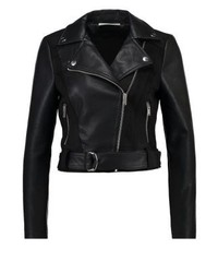 Noisy May Nmbikram Faux Leather Jacket Black