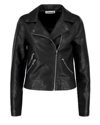 Noisy May Nmbuka Faux Leather Jacket Black