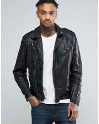 Pepe Jeans Pepe Godot Leather Biker Jacket