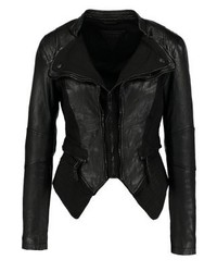 Pia leather jacket black medium 3993099