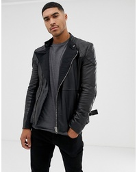 Bolongaro Trevor Quilted Leather Biker Jacket