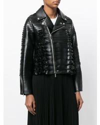 Comme Des Garçons Noir Kei Ninomiya Ruffle Biker Jacket