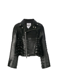 Ruffle biker jacket medium 8264987
