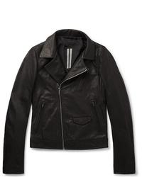 Rick Owens Slim Fit Leather Biker Jacket