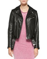 IRO Wilma Asymmetric Zip Leather Moto Jacket