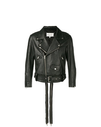 Maison Margiela Zip Detail Leather Jacket