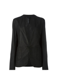 Giorgio Brato Leather Blazer Black