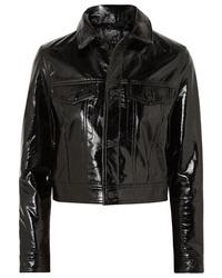 Ksubi A2b Textured Patent Leather Jacket