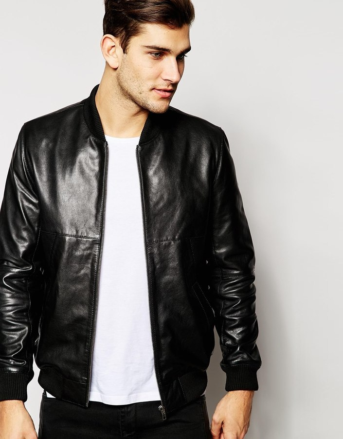 Barneys Leather Classic Bomber Jacket | Where to buy & how to wear