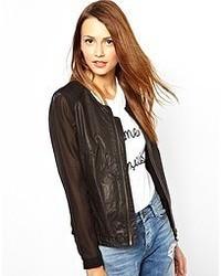 muubaa Corona Leather Bomber Jacket