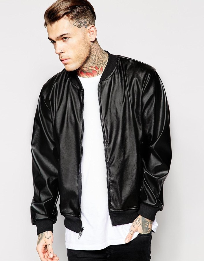 American Apparel Faux Leather Bomber Jacket | Where to buy & how ...