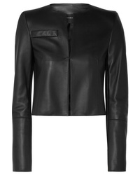 Akris Hasso Cropped Leather Jacket