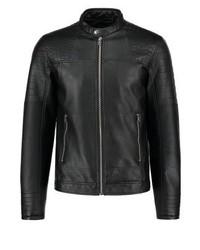 Jack & Jones Jcodalian One Fit Faux Leather Jacket Black